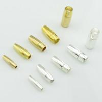 10x Steck Verschluss für 2 3 4 5 6 mm Band silber gold Band einkleben Schließe