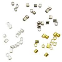 100 Quetschröhrchen 1,5 x 2mm silber gold Röhrchen Quetschperle crimps Quetschie