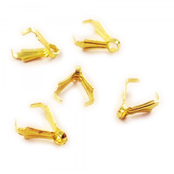 40 Anhänger Verbinder 8mm gold Kralle für Ohrring Anhängerverbinder schlicht