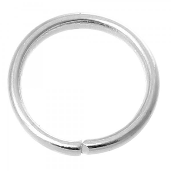 10 Biegeringe 1 x 10 mm offen silber gold kupfer Binderinge Verbinder Ösen Ringe