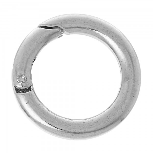 5 Sicherheitsringe 25mm silber gold Karabiner Ringverschluss dick Schlüsselring