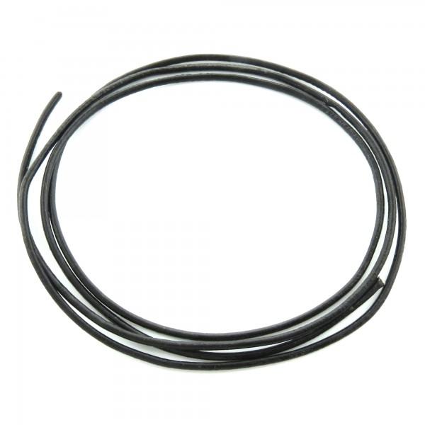 1m Lederband 2mm (1,75€ pro m) schwarz echt Leder Band Lederschnur Schmuckband