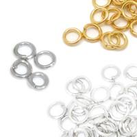 100 Biegeringe 3mm offen klein silber gold Binderinge Ösen Verbindungsringe