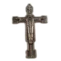 ABVERKAUF XXL Kreuz Anhänger Tibet Silber 41x64mm Kreuzanhänger Kruzefix Rosenkranz