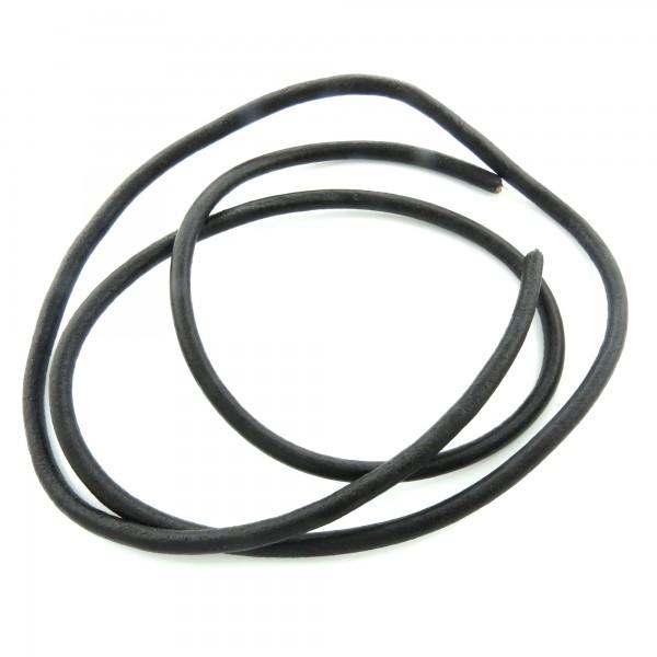 1m Lederriemen 6mm (2,98€ pro m) schwarz echt Band Riemen Lederband Lederschnur