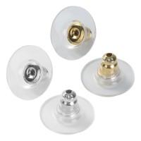 10/50 Komfort Ohrstopper 12mm silber gold Ohrring Verschluss Ohrmutter Schließe