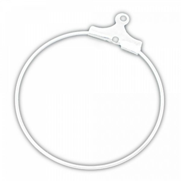 10 Creolen 30mm silber bronze Ohrring Verbinder od. Weinglas Glas Marker basteln