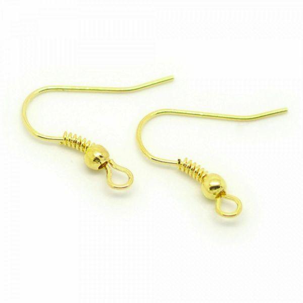 10/50x Ohrhaken 18mm silber gold kupfer bronze schwarz Ohrhänger selber machen