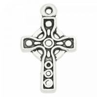 100 Neu Antik Silber Kreuz Anhänger für Armbänder Kette Perlen Beads 15x9mm