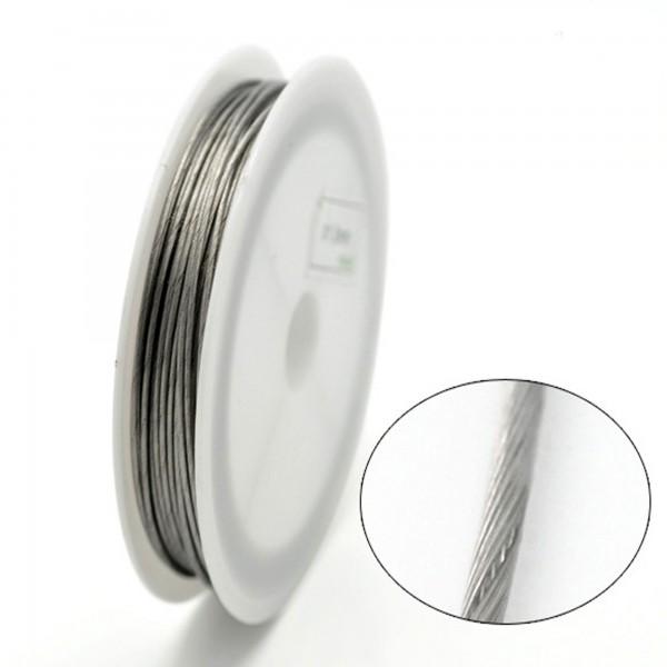 8m Schmuckdraht 1mm (0,49€ pro m) silber gold Stahl Schmuck Draht Basteldraht