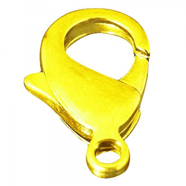 10 Karabiner 10mm silber gold Ketten Verschluss Haken Verschlüsse Schließe 1cm