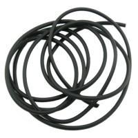 1m Kautschuk Band 2mm (1,28€ pro m) gefüllt schwarz Gummi Schmuck Schnur Faden