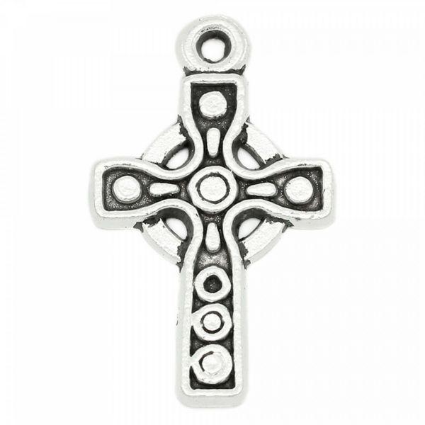 5 Kreuze 16x26mm Anhänger Bettelarmbandanhänger charm Rosenkranz cross kruzefix