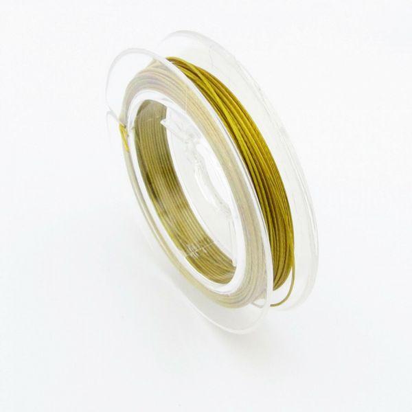 10m Schmuckdraht 0,6mm (0,22€ pro m) weiß silber gold schwarz Draht Edelstahl