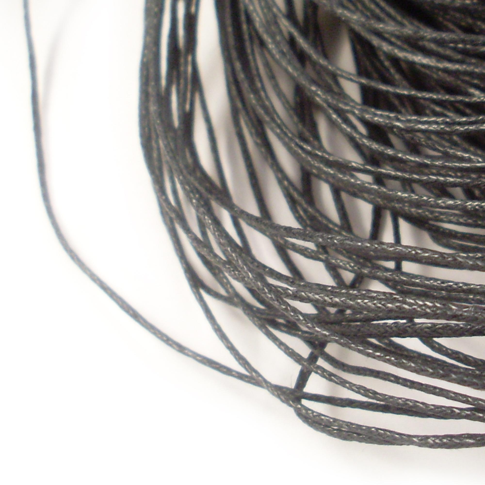 2m Wachsband (0,50€ pro m) 1mm Wachsschnur Band Baumwolle schwarz ...