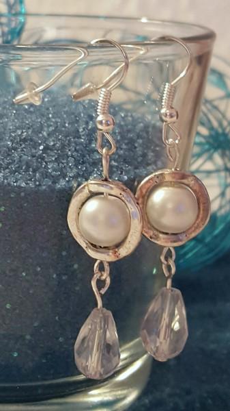 Perlen-Tropfen-Ohrring