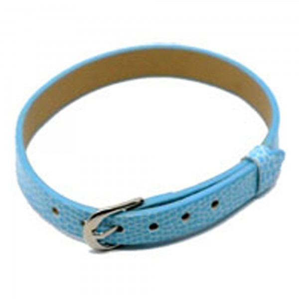 1/20x Kunstleder Armband 7,6mm x 22cm für Slider Uhr Armband Schlangenmuster