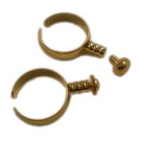 ABVERKAUF Wechselring European Beads 54-56 17-18mm gold für Großloch Perlen Ring Wechselschmuck