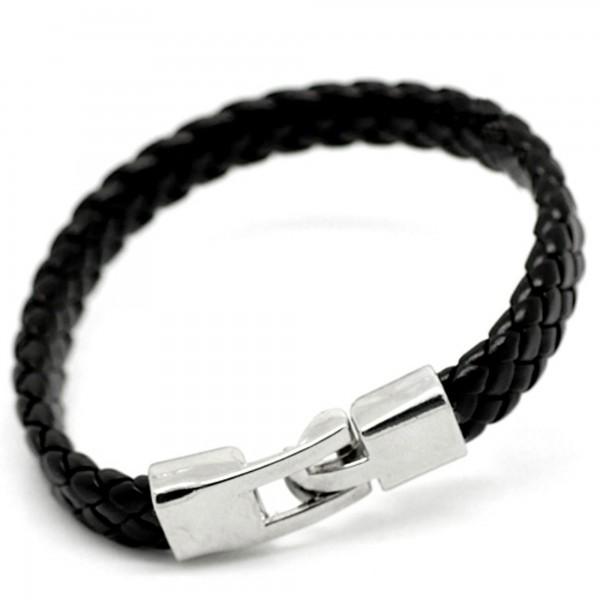 Kunstleder Armband 20 oder 22 cm braun schwarz Herren Damen Armschmuck Vintage