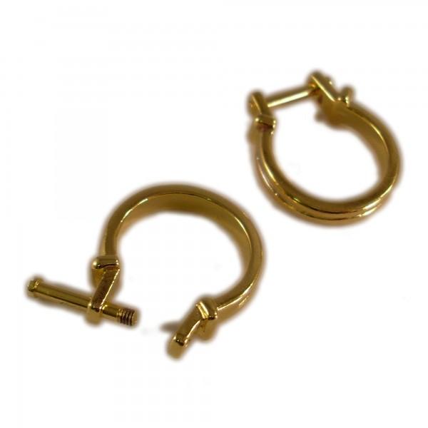 ABVERKAUF Wechselring 60 19mm gold für Großloch Perlen European Beads Ring Wechselschmuck