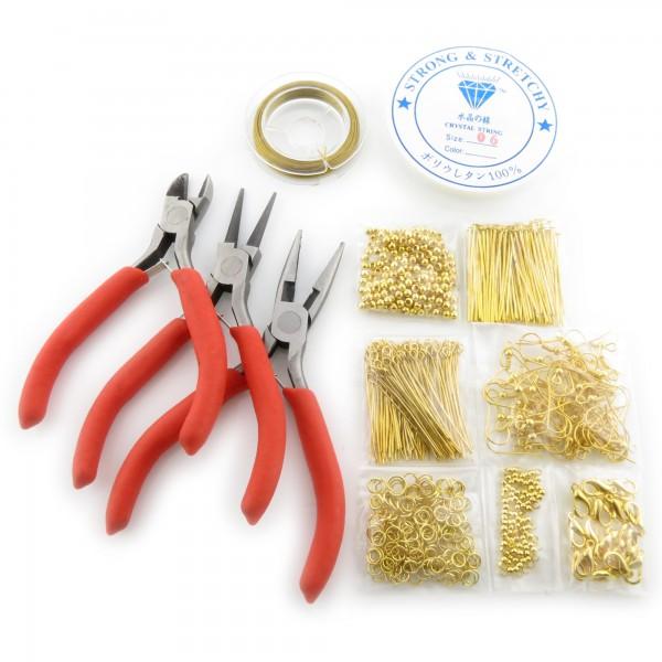Bastelset mit Zangen für Schmuck Herstellung selber basteln machen Bastelpaket