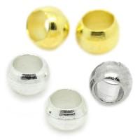 100 Quetschkugeln 1,5 x 2 mm silber gold Kugel Quetschperlen Crimps Spacers