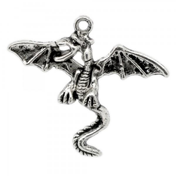 Anhänger Drache 28-52mm silber bronze Dragon Frieden chinesisch Gothic wikinger