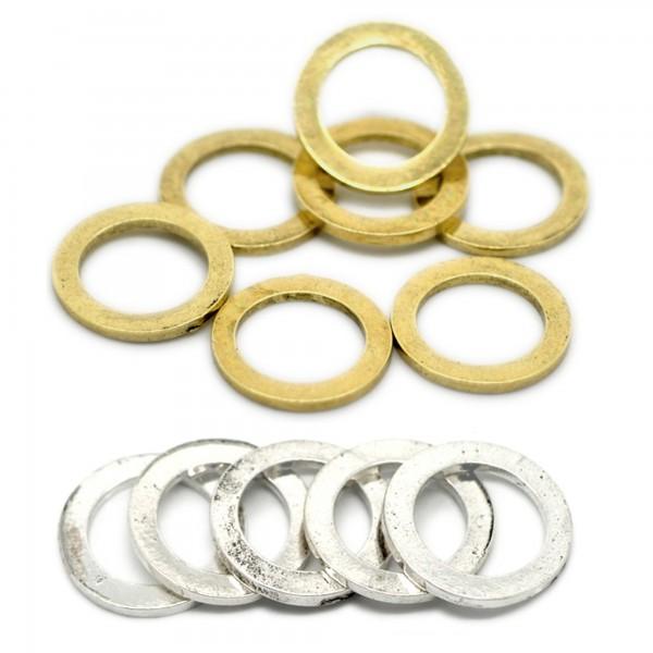 Ring Verbinder XL 22mm bronze Schmuck Anhänger charm schlicht Zwischenteil neu