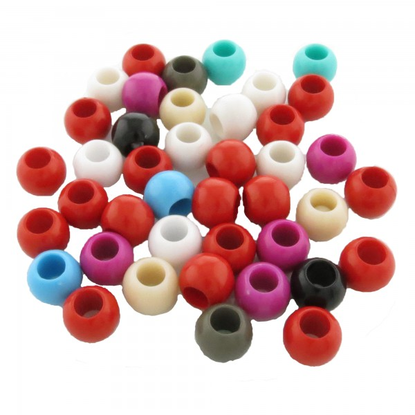 40 Acryl European Beads 11x9mm leicht bunt Zwischenperle Kunststoff Modul Perlen