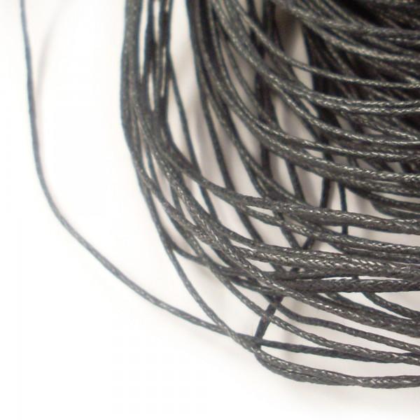 2m Wachsband 1mm (0,50€ pro m) schwarz Wachsschnur Schmuck Band Baumwolle cord