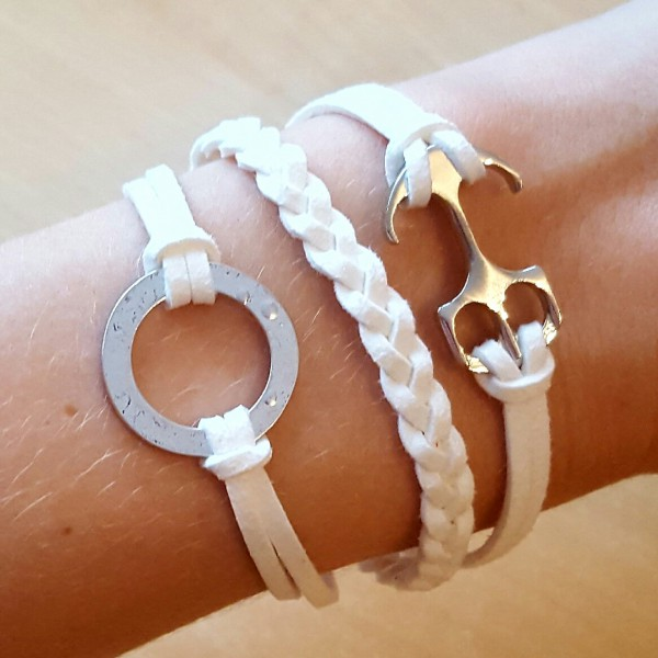 Anker-Armband-weiss