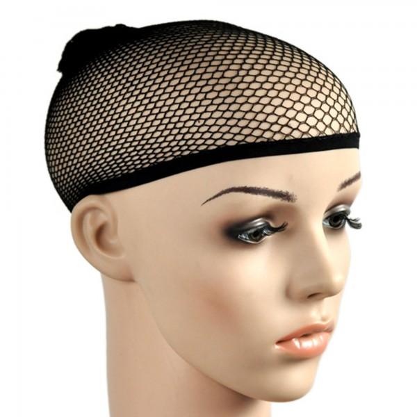 Haarnetz Perückennetz elastisch schwarz Netz f. Haare Perücke Haarbändiger Nylon