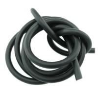 1m Kautschuk Band 5mm (2,48€ pro m) schwarz rund Gummi Schmuck Band Schnur Faden