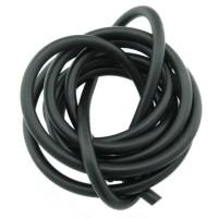 1m Kautschukband 4mm (1,98€ pro m) gefüllt schwarz rund Gummiband Schmuck Schnur
