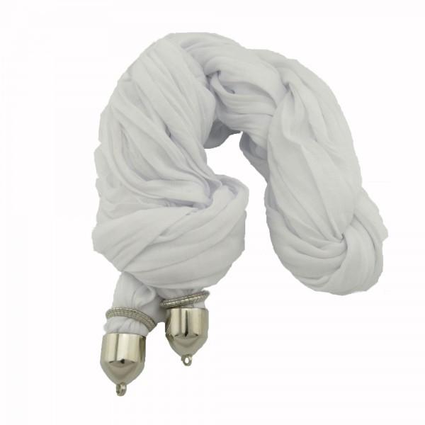 Schal Baumwolle 1,8m zum Verzieren weiß schwarz lila rosa grau Halstuch Tuch