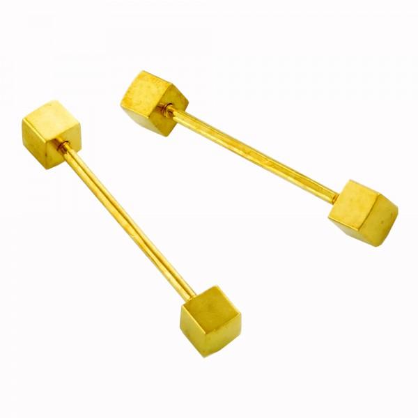 5/10x Wechselstab 27mm Würfel 4mm silber gold Wechsel Stäbe Ring Schmuck basteln