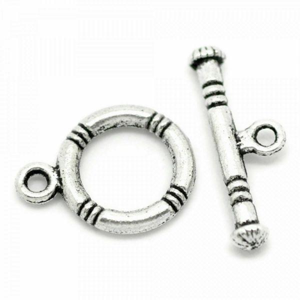 10 Toggle Verschlüsse 20mm Rettungsring silber gold Knebel Verschluss