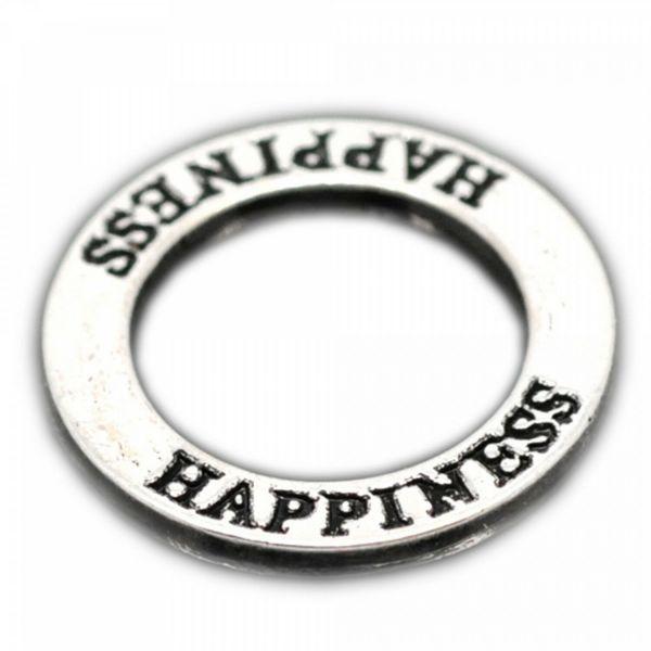 1/18x Ring Verbinder XL 22mm silber bronze Schmuck Anhänger LOVE HOPE FAITH JOY