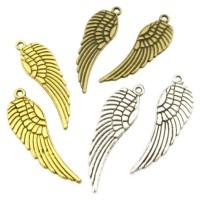 2/10x Flügel Anhänger 9 x 30 mm silber gold bronze Metall Engelsflügel Engel