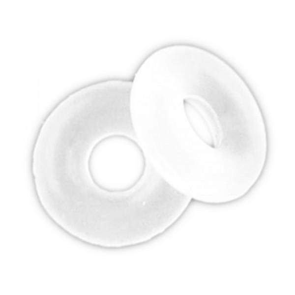 10 Gummi Stopper 6 8 10 mm weiß schwarz Schmuckbedarf Schmuckshop European Beads