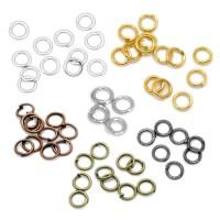 100 Biegeringe 6mm offen silber gold kupfer bronze schwarz Binderinge Verbinder