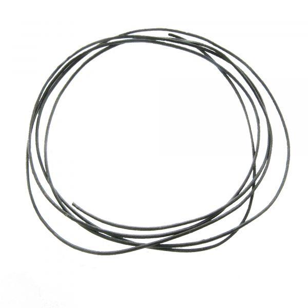 1m Lederband 1mm (1,48€ pro m) schwarz echt Lederschnur Lederriemen Kettenband