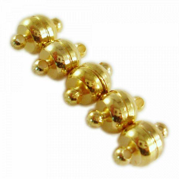 5 Magnet Verschlüsse 11x7mm silber gold bronze kupfer schwarz Schließe einfach
