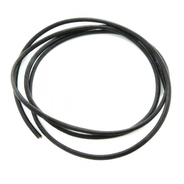 1m Lederband 3mm (1,98€ pro m) schwarz echt rundes Leder Schmuckband Lederschnur