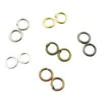 100 Biegeringe 4mm offen silber gold kupfer bronze schwarz Verbindungsringe Ösen