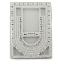 Perlenbrett grau 32,5x23,5cm Bead Design Board Perlensortierbrett Vorlegebrett