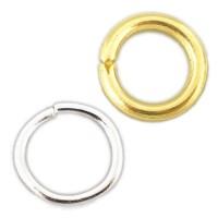 10 Biegeringe 1,5mm x 8mm offen silber gold Binderinge Verbinder Ösen Bindeösen