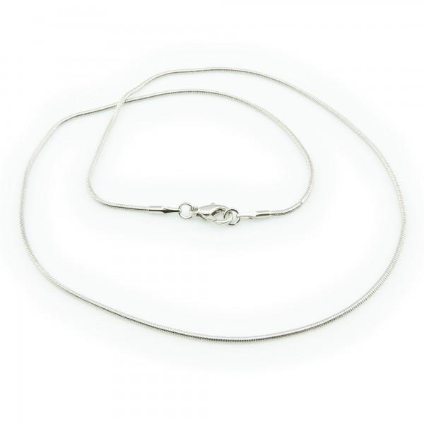 Schlangenkette fein 1,2mm x 41cm antiksilber mit Karabiner Halskette Kette edel