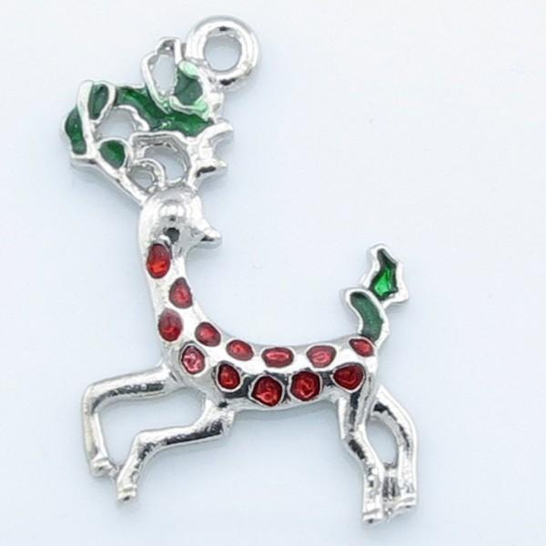 Anhänger Weihnachten christmas santa Rentier Glocke Schlitten Kranz Haus Stiefel