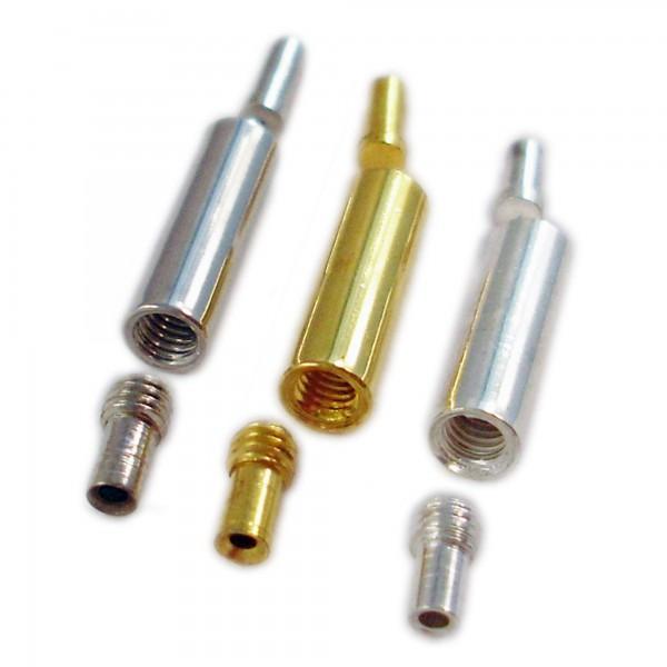 10 Dreh Verschlüsse für 1mm Draht 4x13mm silber gold Schmuck Drehverschluss